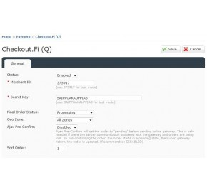 [1.5.x] Checkout.fi Payment Module (OpenCart Addon)