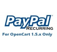 Paypal Recurring Subscription for OpenCart 1.5.x