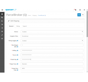 ParcelBroker.co.uk Live Shipping Rates Integration (1.5.x/2.0.x)
