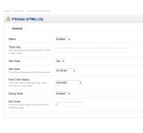 [1.5.x] PSiGate (HTML) Payment Integration