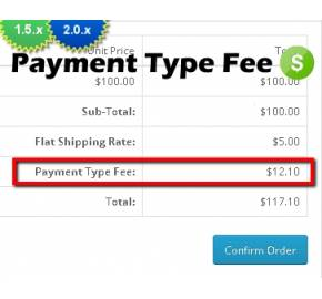 Payment Method Fee (1.5.x/2.x)