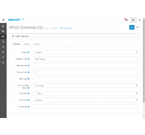 MIGS (Server Hosted) Payment Gateway (1.5.x/2.x.x)