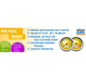 Min / Max Order Limits Pro (1.5.x/2.x)