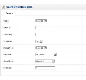 CashFlows Hosted Payment Integration (1.5.x/2.x)