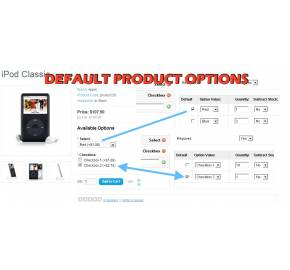 Default Product Options + Category Include (1.5.x/2.x)