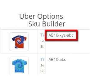 Options Boost 2.0 - Uber Options - Sku Builder (2.x)