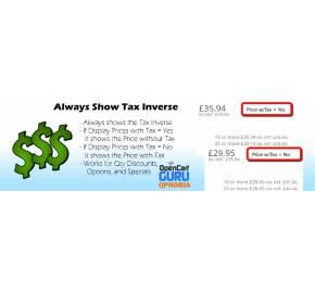 Always Show Inverse Tax Value (15x/2x) - vQmod