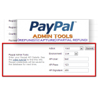 Paypal Admin Tools 15x/2xx (Admin Refund, Void, Capture)