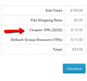 Coupon Based on Sort Order (15x/2x)