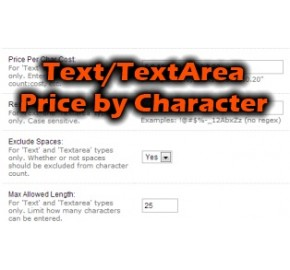 [1.5.x] Text/Textarea Price Per Character Pro