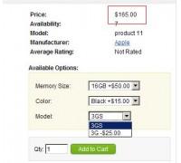 [1.5.x] Option Price Update Redux (OpenCart Addon)